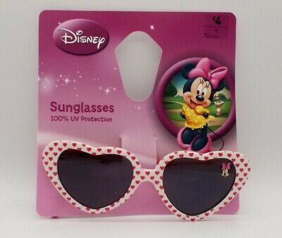 Disney - Girls - Sunglasses- Minnie Mouse - Pink - White - Hearts - 3yrs + • 3.49£