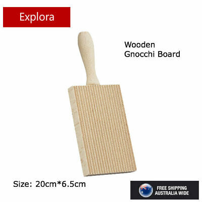 AU9.50 • Buy Appetito Gnocchi Board - Rubberwood Rolling Pasta Maker