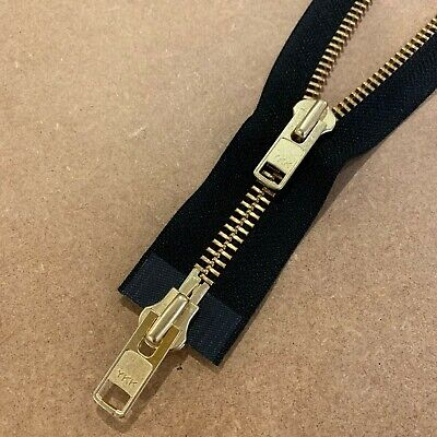 Zip | 10 Gauge Heavy | Two-Way Open Ended | 100cm | Gold Finish | Black Tape • 12.50£