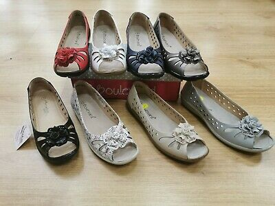 £16.99 • Buy Ladies Open Toe Shoes Black,Red,Navy,Pewter,Beige,White, Silver, Multi Sizes 3-9