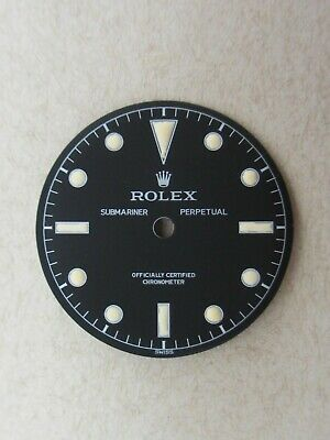 $ CDN413.16 • Buy ~ Vintage Rolex #6204  James Bond  Submariner Matte Black Refinished Dial ~