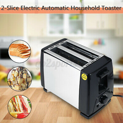 AU26 • Buy 2 Sheet Electric Automatic Toaster Stainless Extra Wide Slot With Crumb Tray AU