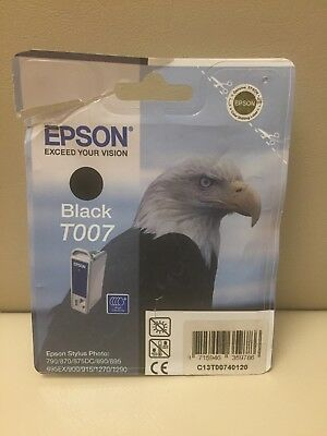 Genuine Epson T007 Black Ink Cartridge.   New And Sealed. • 6.99£