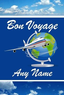 Bon Voyage Personalised Birthday Card  • 2.99£