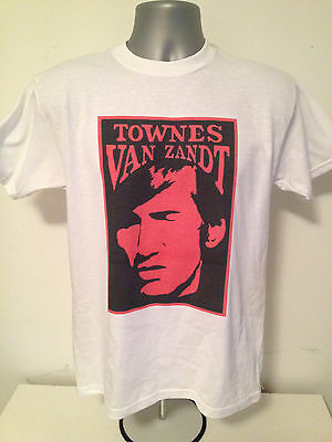 TOWNES VAN ZANDT T-SHIRT - Alt Country Americana - Avail. In White Yellow Or Red • 12.99£