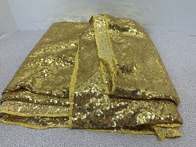$24.95 • Buy NEW 50  X 100  GOLD 3MM Sequin Fabric                    (6)