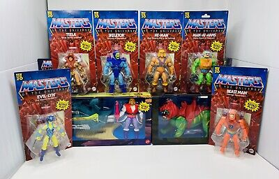 $369.94 • Buy Masters Of The Universe Origins Unpunched Set Six Figures, Sky Sled, Battle Cat