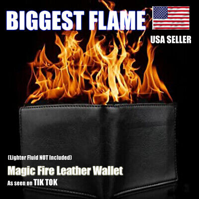£72.63 • Buy Magic Trick Fire Flaming Wallet Leather Street Show Demon Wallet HUGE FLAME