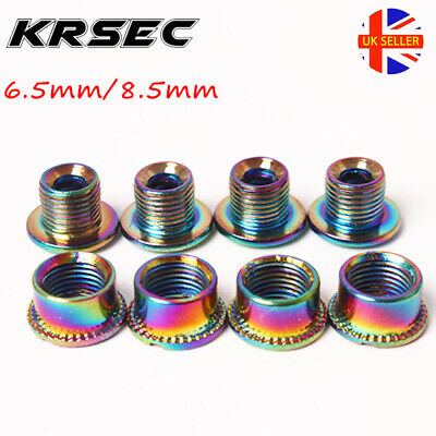 KRSEC Bike Chainring Bolts Single/Double/Triple Speed Chainwheel Screws Bolts • 6.59£