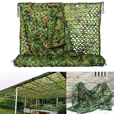£12.95 • Buy Large 2-10m Army Camo Net Camouflage Netting Hunting Shooting Hide Woodland