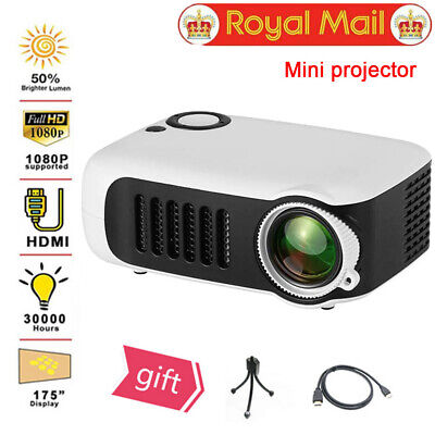 7000 Lumen 1080P Mini LED Projector Home Theater Cinema LED LCD Video Projection • 34.89£
