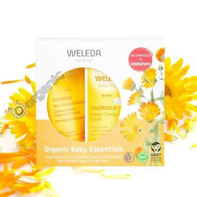 £9.95 • Buy Weleda Organic Natural Calendula Baby Gift Set Kit - Nappy Cream & Body Wash