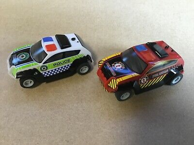 """Micro Scalextric 1:64  Cars   """" Emergency Services """"  Police And Fire Rescue • 14.75£"""