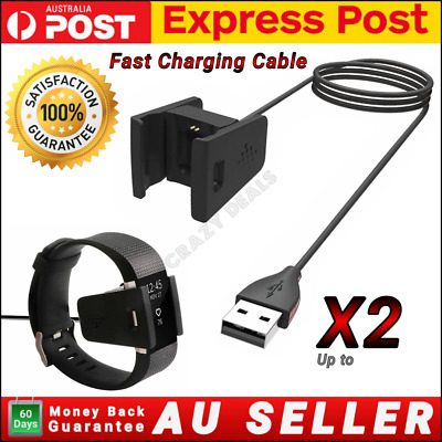 AU13.90 • Buy USB Charger Charging Cable For Fitbit Charge 2 Wristband Smart Fitness Watch