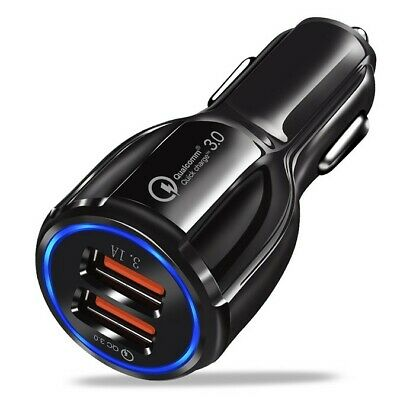 AU9.90 • Buy Quick Charge 3.0 In Car Charger 2 Ports USB Qualcomm QC Fast Charging Adapter AU