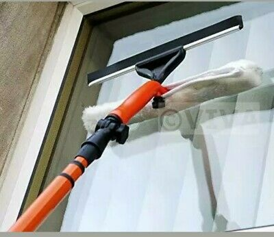 3.5M Telescopic Window Cleaner Kit Window Cleaning Equipment Squeegee Soft Head • 18.99£