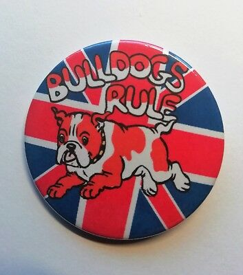 English Bulldog Badge With Union Jack British Bulldogs Rule Pin • 3.50£