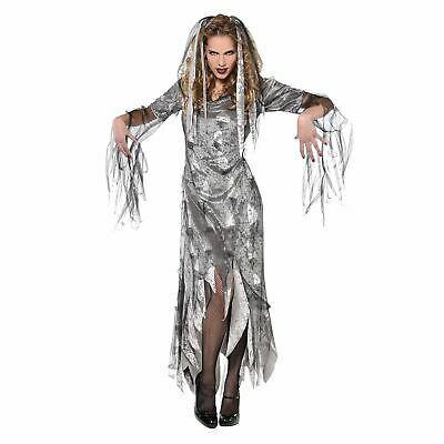 £14.74 • Buy Womens Graveyard Zombie Fancy Dress Costume Undead Corpse Halloween Outfit
