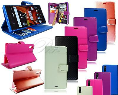 AU12.67 • Buy For Sony Xperia XZ Double F8332 Leather Flip Wallet Phone Case + Tempered Glas