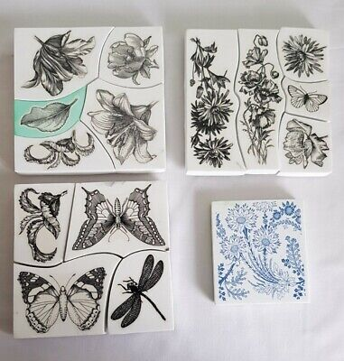 15 X Foam Stamps Mixed Bundle Inc La Blanche ~ Butterflies & Flowers/Foliage • 19.99£