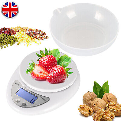 5Kg Digital Kitchen Scale Electronic Household Food Cooking Weighing Bowl Scales • 6.45£