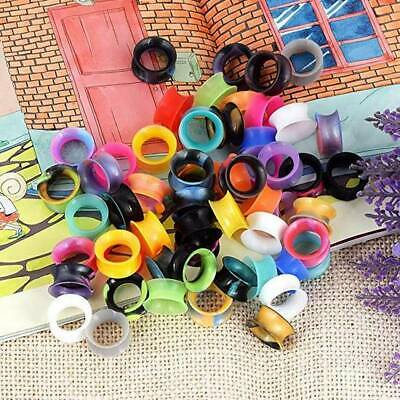 $10.99 • Buy 100PCS Wholesale Thin Silicone Ear Plugs Random Mixed Color Earskin Ear Gauges