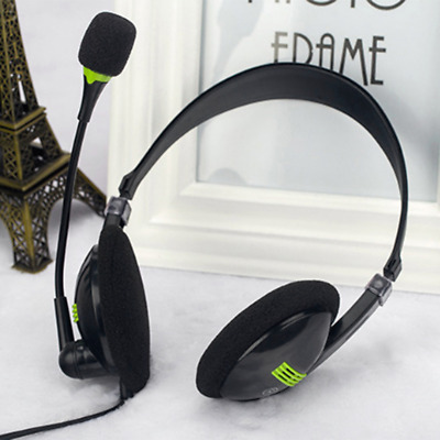 USB Headphones With Microphone Noise Cancelling Headset For Skype Laptop Phone • 4.99£