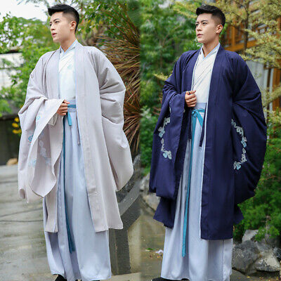 NEW Autumn Winter Daily Traditional Men Chinese Ancient Costume COSPLAY Hanfu • 50.36£