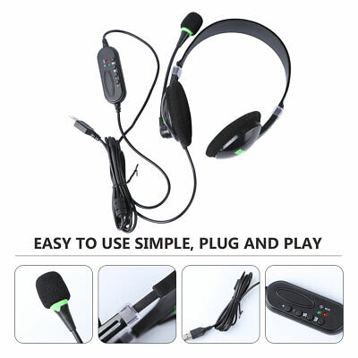 $ CDN13.72 • Buy USB Wired Headset Noise Cancelling Earphone With Mic For Laptop Desktop