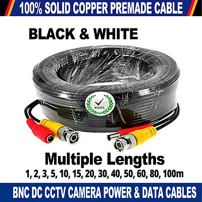 Bnc Dc Power Lead Cctv Security Camera Dvr Video Camera Extension Cable 1m -100m • 2.95£