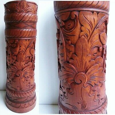 AU49.99 • Buy Umbrella Walking Stick Holder Wooden Stand Hand Carved Suar Wood Bali Balinese S