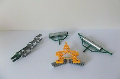 Britains Disc Harrow 2 X Rollers + Plough Very Good Unboxed • 24.99£