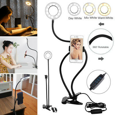 AU15.59 • Buy AU LED Selfie Ring Light With Cell Phone Holder For Live Stream And Makeup