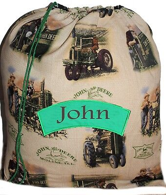 AU22 • Buy Drawstring Shopping / Book Bag -Personalised John Deere Tractor -First Name FREE