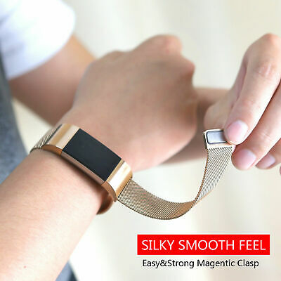 AU7.99 • Buy New For Fitbit Charge 2 Band Stainless Steel Metal Milanese Loop Wristband Strap
