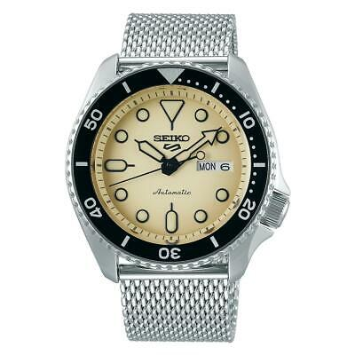 $ CDN361.25 • Buy Seiko 5 Sports Cream Dial Silver Mesh Bracelet Automatic Men's Watch SRPD67K1