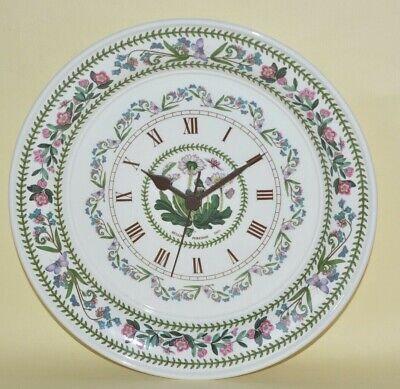 Portmeirion Botanic Garden Quartz Clock Daisy Working No Damage 10.5  Dia • 25£