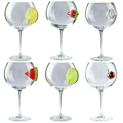 £15.79 • Buy Balloon Gin / Vodka Glass With A Fruit Slice Embedded - Choose Design