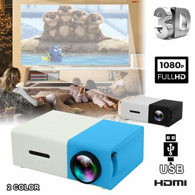 AU54.73 • Buy Mini Pocket YG300 3D Projector LED HD 1080p Home Theater Cinema USB HDMI Y1