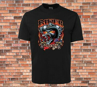AU20.99 • Buy BIKER FROM HELL T-shirt Cool New  Licensed Design Sizes Up To 9XL