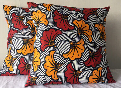 African Print Envelop Style Cushion Cover • 5.88£