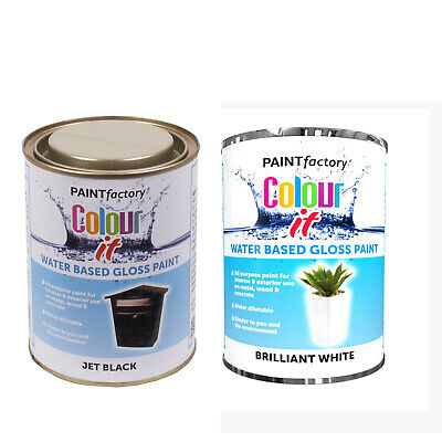 All Purpose Gloss Water Based Gloss Paint For Interior & Exterior Use   • 8.99£
