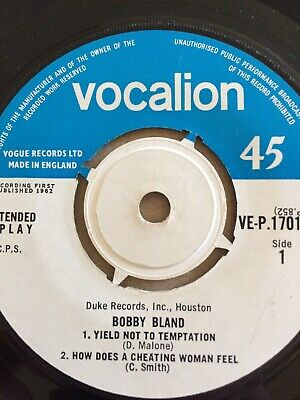 £39 • Buy Bobby Bland, Yield Not To Temptation EP, N.Mint/ NO COVER,Vocalion,Mod,Soul, R&B