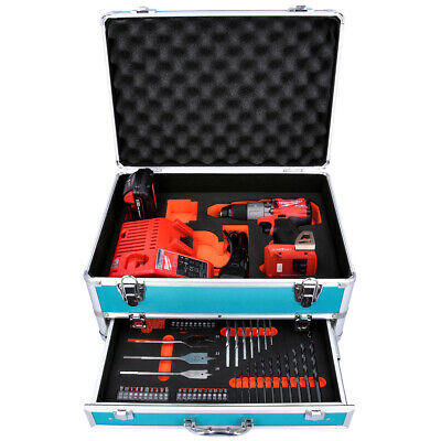 Milwaukee M18ONEPD2 18V Combi Drill + 1 X 2Ah Battery, Charger & 70pc Acc. Set • 258.99£