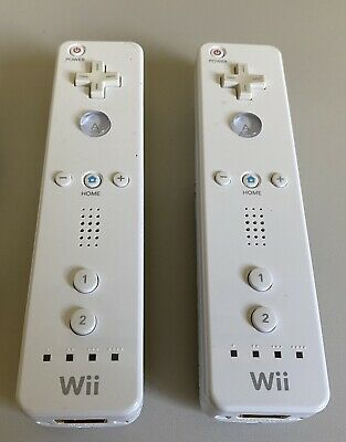 $ CDN39.48 • Buy Wii Remote Controller OEM Lot Of 2 Remotes, Different Battery Cover Tested