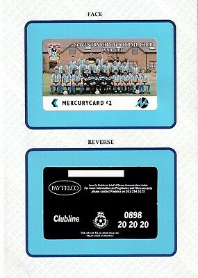 Rare Never Issued Mercury Proof Coventry City Football Club 1990 - 1991 • 45£