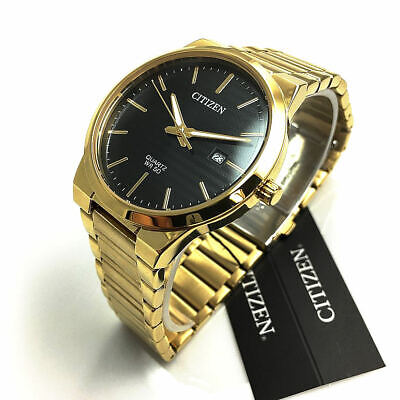 Citizen Quartz Mens Dress Watch 50M BI5062-55E Gold Plated Steel UK Seller • 124.95£