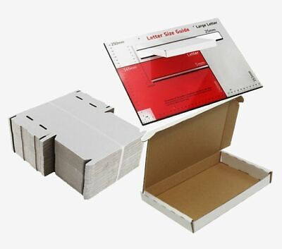 White Large A6 A5 A4 PIP Postal Pack Cardboard Royal Mail Mailing Boxes C6 C5 C4 • 14.85£