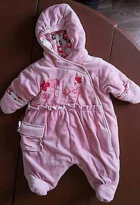 Suit Pilote 1 Month (54 CM) Pink Hooded, Very Thick MARESE • 28.77£