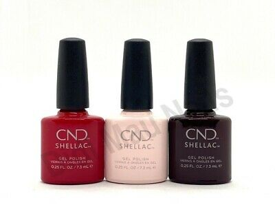 AU61.09 • Buy CND Shellac UV Gel Polish .25 Oz - THREE ICONIC SHADES 2020 NEW!!